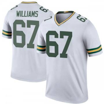Youth Nike Green Bay Packers Larry Williams White Color Rush Jersey - Legend