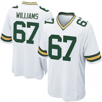 Youth Nike Green Bay Packers Larry Williams White Jersey - Game