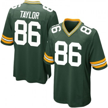 Youth Nike Green Bay Packers Malik Taylor Green Team Color Jersey - Game