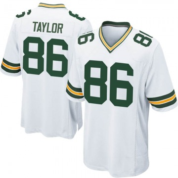 Youth Nike Green Bay Packers Malik Taylor White Jersey - Game