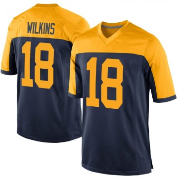 Youth Nike Green Bay Packers Manny Wilkins Navy Alternate Jersey - Game