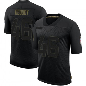 Youth Nike Green Bay Packers Marc-Antoine Dequoy Black 2020 Salute To Service Jersey - Limited