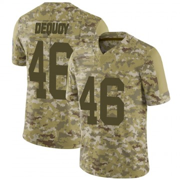 Youth Nike Green Bay Packers Marc-Antoine Dequoy Camo 2018 Salute to Service Jersey - Limited