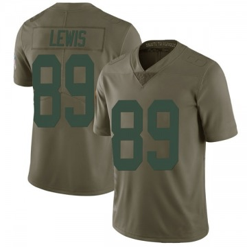 Youth Nike Green Bay Packers Marcedes Lewis Green 2017 Salute to Service Jersey - Limited