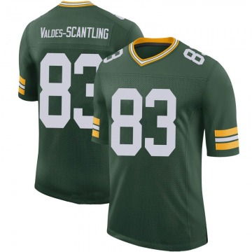 Youth Nike Green Bay Packers Marquez Valdes-Scantling Green 100th Vapor Jersey - Limited