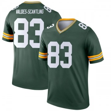 Youth Nike Green Bay Packers Marquez Valdes-Scantling Green Jersey - Legend