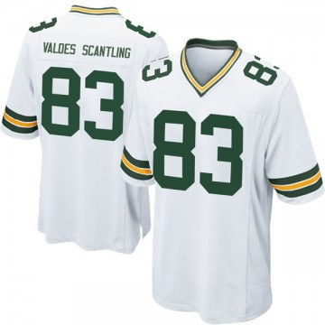 Youth Nike Green Bay Packers Marquez Valdes-Scantling White Jersey - Game