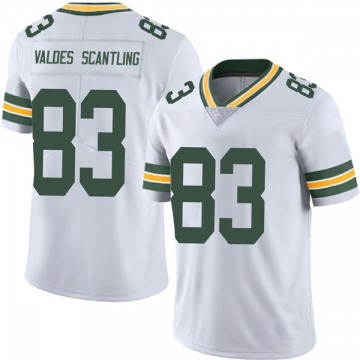 Youth Nike Green Bay Packers Marquez Valdes-Scantling White Vapor Untouchable Jersey - Limited
