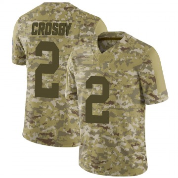 Youth Nike Green Bay Packers Mason Crosby Camo 2018 Salute to Service Jersey - Limited