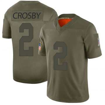 Youth Nike Green Bay Packers Mason Crosby Camo 2019 Salute to Service Jersey - Limited