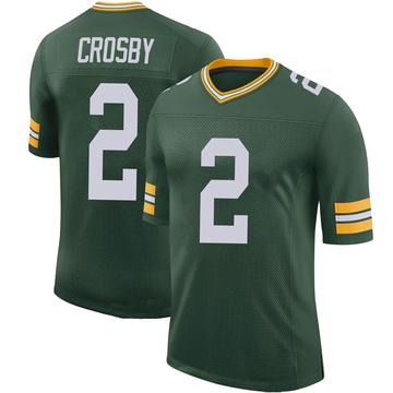 Youth Nike Green Bay Packers Mason Crosby Green 100th Vapor Jersey - Limited