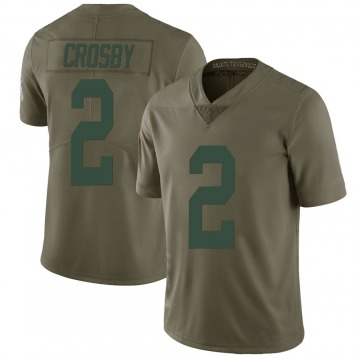 Youth Nike Green Bay Packers Mason Crosby Green 2017 Salute to Service Jersey - Limited