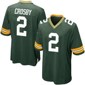 Youth Nike Green Bay Packers Mason Crosby Green Team Color Jersey - Game
