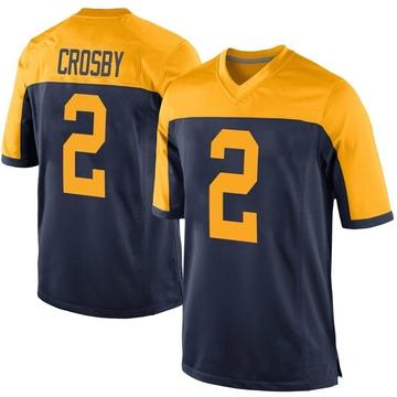 Youth Nike Green Bay Packers Mason Crosby Navy Alternate Jersey - Game