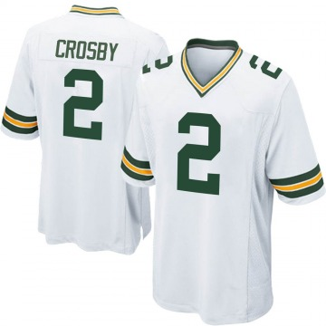 Youth Nike Green Bay Packers Mason Crosby White Jersey - Game