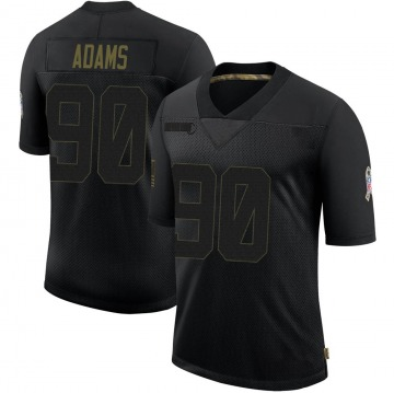 Youth Nike Green Bay Packers Montravius Adams Black 2020 Salute To Service Jersey - Limited