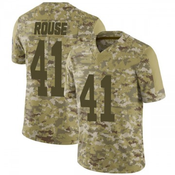 Youth Nike Green Bay Packers Nydair Rouse Camo 2018 Salute to Service Jersey - Limited