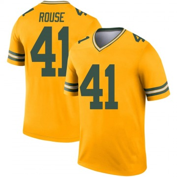 Youth Nike Green Bay Packers Nydair Rouse Gold Inverted Jersey - Legend