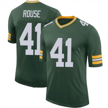 Youth Nike Green Bay Packers Nydair Rouse Green 100th Vapor Jersey - Limited