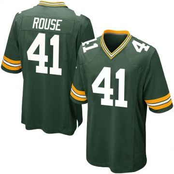 Youth Nike Green Bay Packers Nydair Rouse Green Team Color Jersey - Game