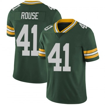 Youth Nike Green Bay Packers Nydair Rouse Green Team Color Vapor Untouchable Jersey - Limited