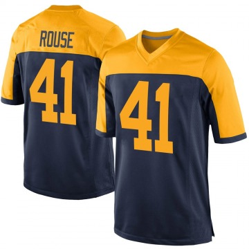 Youth Nike Green Bay Packers Nydair Rouse Navy Alternate Jersey - Game