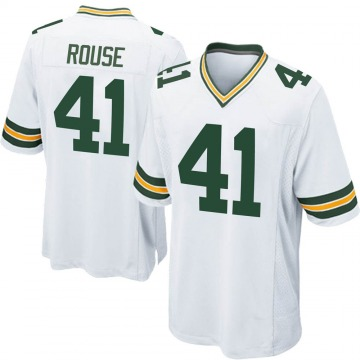 Youth Nike Green Bay Packers Nydair Rouse White Jersey - Game