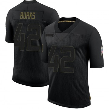 Youth Nike Green Bay Packers Oren Burks Black 2020 Salute To Service Jersey - Limited
