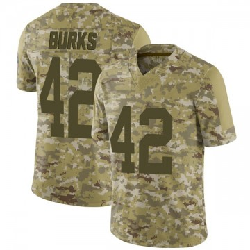 Youth Nike Green Bay Packers Oren Burks Camo 2018 Salute to Service Jersey - Limited