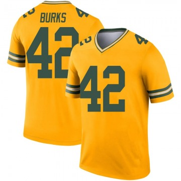 Youth Nike Green Bay Packers Oren Burks Gold Inverted Jersey - Legend