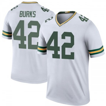 Youth Nike Green Bay Packers Oren Burks White Color Rush Jersey - Legend