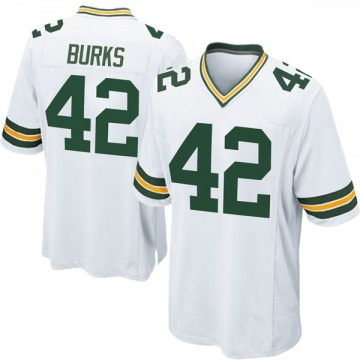 Youth Nike Green Bay Packers Oren Burks White Jersey - Game