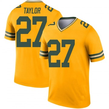 Youth Nike Green Bay Packers Patrick Taylor Jr. Gold Inverted Jersey - Legend