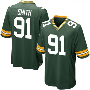 Youth Nike Green Bay Packers Preston Smith Green Team Color Jersey - Game