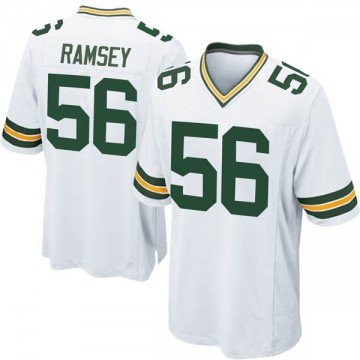 Youth Nike Green Bay Packers Randy Ramsey White Jersey - Game