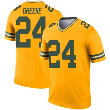 Youth Nike Green Bay Packers Raven Greene Gold Inverted Jersey - Legend