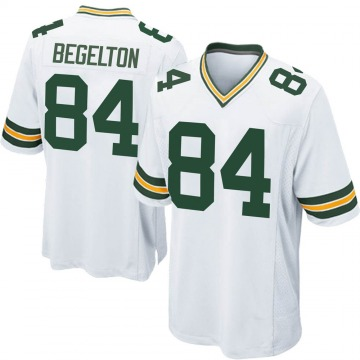 Youth Nike Green Bay Packers Reggie Begelton White Jersey - Game