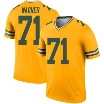 Youth Nike Green Bay Packers Rick Wagner Gold Inverted Jersey - Legend