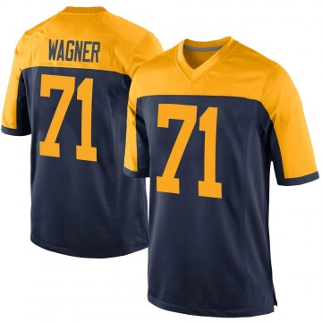 Youth Nike Green Bay Packers Rick Wagner Navy Alternate Jersey - Game