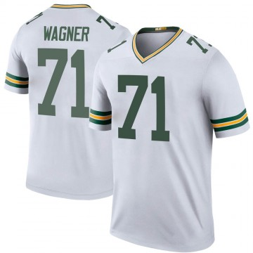 Youth Nike Green Bay Packers Rick Wagner White Color Rush Jersey - Legend