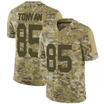Youth Nike Green Bay Packers Robert Tonyan Camo 2018 Salute to Service Jersey - Limited