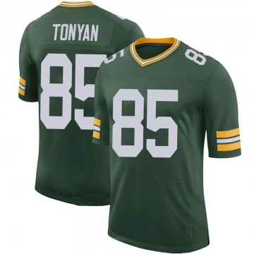 Youth Nike Green Bay Packers Robert Tonyan Green 100th Vapor Jersey - Limited