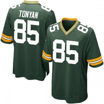 Youth Nike Green Bay Packers Robert Tonyan Green Team Color Jersey - Game
