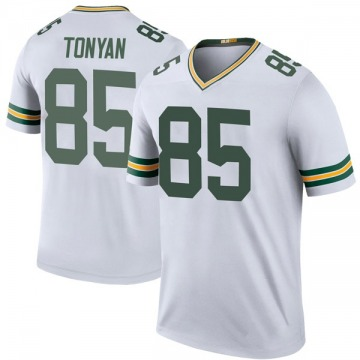 Youth Nike Green Bay Packers Robert Tonyan White Color Rush Jersey - Legend