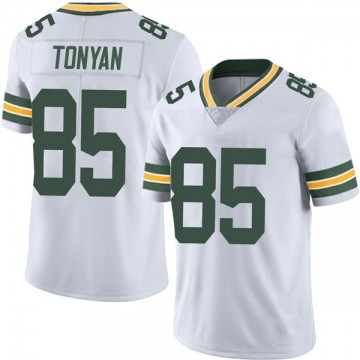Youth Nike Green Bay Packers Robert Tonyan White Vapor Untouchable Jersey - Limited