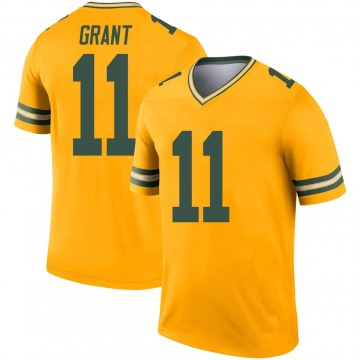 Youth Nike Green Bay Packers Ryan Grant Gold Inverted Jersey - Legend