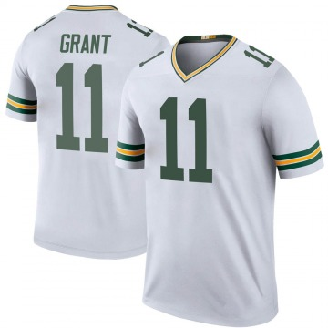 Youth Nike Green Bay Packers Ryan Grant White Color Rush Jersey - Legend