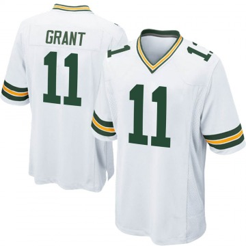 Youth Nike Green Bay Packers Ryan Grant White Jersey - Game