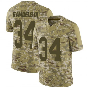 Youth Nike Green Bay Packers Stanford Samuels III Camo 2018 Salute to Service Jersey - Limited