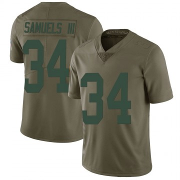 Youth Nike Green Bay Packers Stanford Samuels III Green 2017 Salute to Service Jersey - Limited